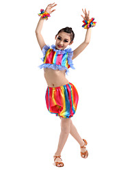 Performance Outfits Children's Performance Polyester Rainbow Colors Outfit Kids Dance Costumes