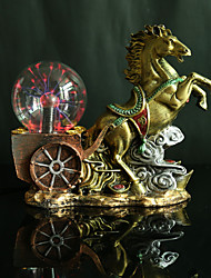 Walking on large chariots and horses magic ball Crystal light magic ball