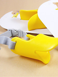 Dog Muzzle Yellow Silicone