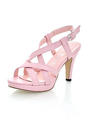 Women's Shoes Stiletto Heel Peep Toe Sandals Office & Career/Dress Black/Pink/White/Beige