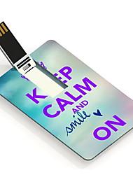 64GB Keep Calm and Smile On Design Card USB Flash Drive