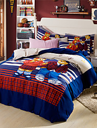 American Style Duvet Cover Set Bears Queen Bed Cotton Blend