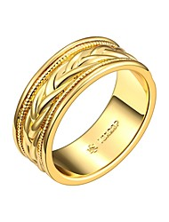 Fashion Relaxing Multicolor Gold-Plated Band Rings(Multicolor)(1Pcs)