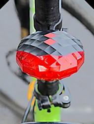 Jewel Shaped 7-Mode 5-LED Red Light Bike Laser Tail Lamp (Black  +Red)