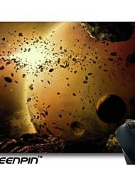 art de la planète cosmique plaquettes design explosion de souris seenpin de zemoya personnalisé
