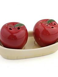 Ceramic Red Apple Salt Pepper Shaker Wedding Favors Gifts for Guests Souvenirs Party