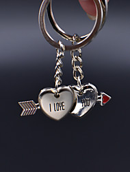 Loving Cupid Stainless Steel Couple Keychain (1 Pair)