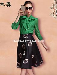 Gu.Mu.Xi  Women's European Fashion Elegant Cheap  Etiquette Skirts