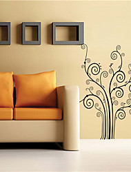 Wall Stickers Wall Decals, Cartoon Tree Shape PVC Wall Stickers
