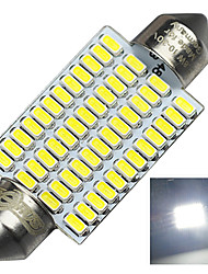 2.8W 12-24V 570LM DA42MM  3014-48SMD C5W Color White License Plate and Tail Box Lighting LED Lamp for Car