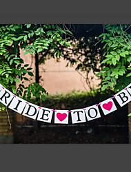 Romantic Vintage BRIDE TO BE with Hearts Wedding Bridal Shower Banner Party Decor