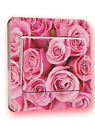 Switch Wall Stickers Wall Decals, Rose Creative PVC Switch Sticker