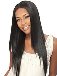 cordón de las mujeres de 10 pulgadas peluca del frente del color del ~ 24inch pelo de la India (# 1 # 1b # 2 # 4) pelo lacio