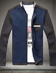 Men's New Brand Stand Collar Casual Slim Fit Coats British Stylish Jackets