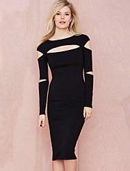 Women's Sexy Slash Midi Dress