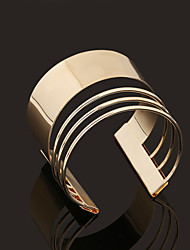 Retro Rome Style Geometry Opening Metal Golden Bracelets Jewelry