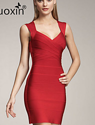 nuoxin® Women's  Low Bosom Cultivate One's Morality Stretch The Bandage Sexy Dress