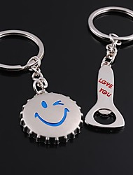 Wedding Keychain Favor [ Pack of 2Piece ] Non-personalised With Bottle Caps A Bottle Opener