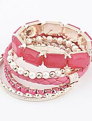 Casual Alloy / Imitation Pearl / Acrylic Stacked Bracelet
