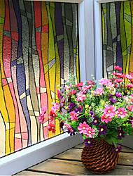 film de fenêtre de rayures colorées contemporaine