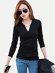 Polyester Vrouwen - T-shirt - Lange mouw