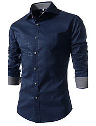Informeel ShirtKraag - MEN - Vrijetijds shirts ( Katoenmengeling )met Lange Mouw