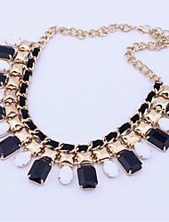 le punk vent collier acrylique perle Boximiya femmes