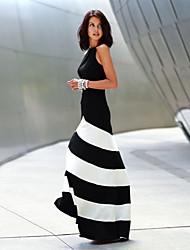 Robes (Coton) Sexy/Informel/Soirée Sans manche pour Femme