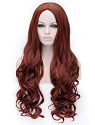 cocplay vendre les nouveaux bruns bouclés perruque de cheveux perruques de cheveux de nylon de haute qualité