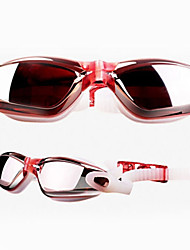 Sanqi News Plating Red Swim Goggles