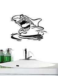 stickers muraux autocollants de mur, les requins décoration salle de bain murale PVC Stickers muraux