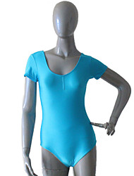 Shiny Nylon/Lycra Ladies Cap Sleeve Leotards with Drawstring Front More Colors  for Girls and Ladies