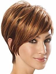The New European And American Short Light Brown  Hair Wig