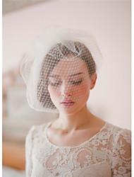 Wedding Veil Two-tier Blusher Veils/Veils for Short Hair/Birdcage Veils Cut Edge