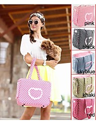 Herz stilvoll mit Punkt Patten Design Transporttasche für Hunde und Katzen (Farbe sortiert)