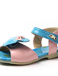 Girl's Sandals Summer Comfort Leatherette Casual Bowknot Blue / Green / Pink