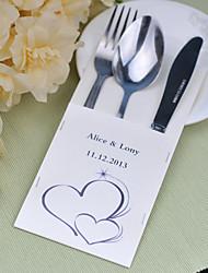 jogos de serviço do bolo de casamento de faca fontes personalizadas sacos conjunto de 10 ---- alma gêmea