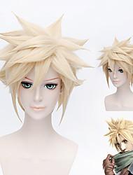 Short Blonde Cosplay Costume Dragon Ball Z Goku Japan Anime Hair Wig + Gift Cap