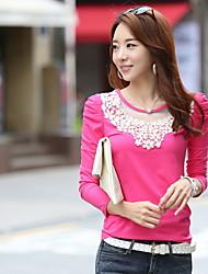 Women's Lace  Long Sleeve Beads T-shirt