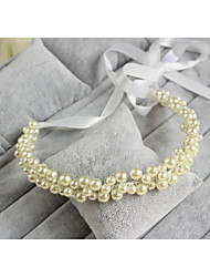 Women Pearl Headbands/Forehead Jewelry With Imitation Pearl Wedding/Party Headpiece