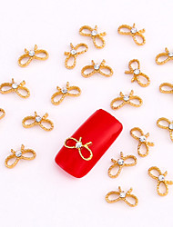 10PCS Gold Nail Art Jewelry Golden Infinity Rhinestone Aryclic Nail Tips Decorations Nail Art Glitters
