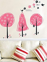 Wall Stickers Wall Decals, Pink Tree PVC Wall Stickers