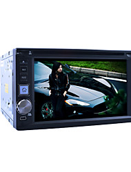 "6.2 ""ecrã LCD táctil 2DIN carro dvd player in-dash com estéreo de rádio, dvd, sd, usb"