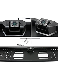 Wide View 190° Angle Night Vision Waterproof Rear View Camera Universal EU/European License Plate Frame