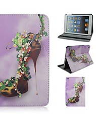 7.9 Inch High Heels Pattern PU Leather Case with Stand and Pen for iPad mini 1/2/3