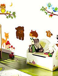 decalques de parede adesivos de parede, animais dos desenhos animados de parede pvc etiquetas