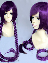 Angelaicos Women Danganronpa Dangan-Ronpa Toko Fukawa Girl Long Purple Braids Costume  Halloween Cosplay Wig
