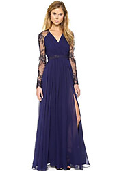 MaNi  Women's Casual Long Sleeve Dresses (Polyester)