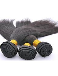 """3pcs / lot 10 """"-28"""" de onda 100 por ciento de las extensiones de cabello humano brasileño chica sin procesar grado del pelo remy sin"""