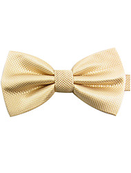 Men's Classic Plain Colour Champagne Bowtie